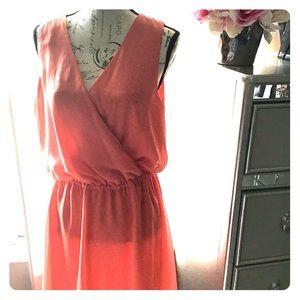 Bebe Orange Wrap Dress